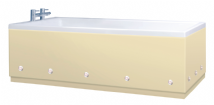 Luxury Cream 1 Piece adjustable Bath Panels with LED Lights